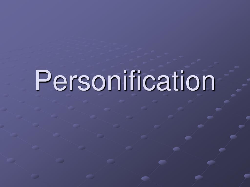 personification l.