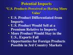 potential impacts u s products perceived as having more value