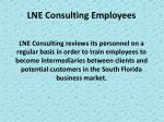 lne consulting employees