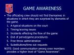 game awareness