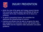 injury prevention