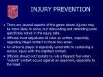 injury prevention37