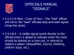 officials manual signals