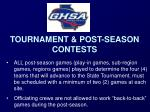 tournament post season contests