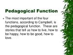 pedagogical function