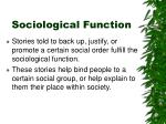 sociological function