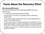 facts about the recovery effort4