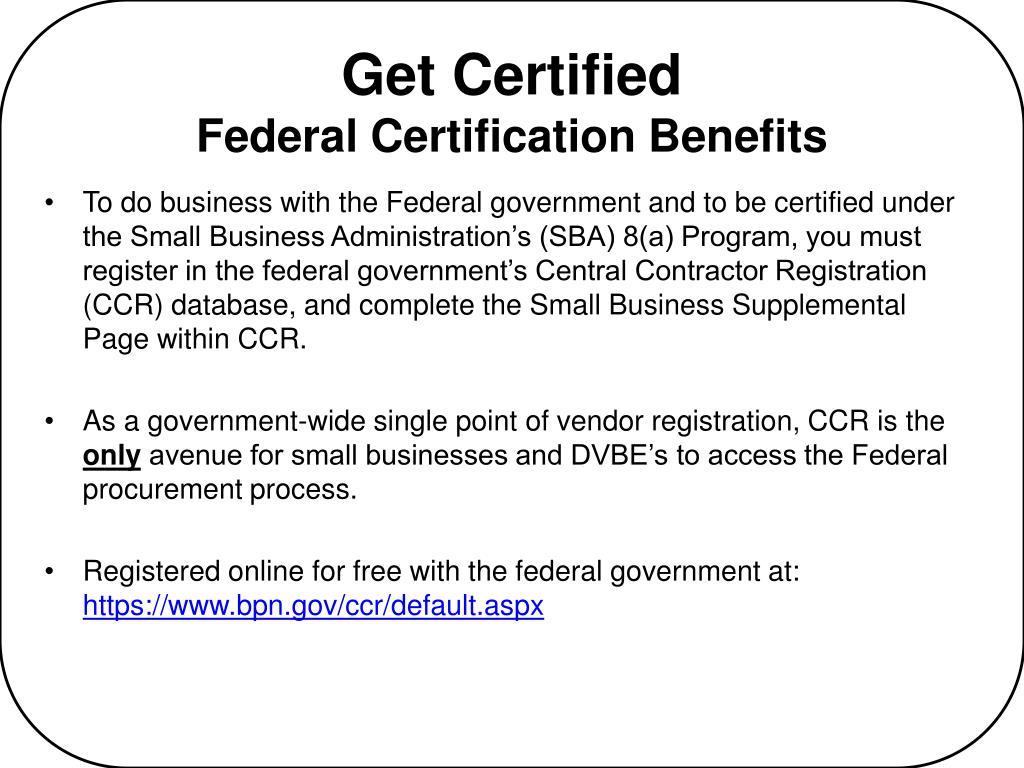 Get Certified