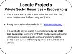 locate projects private sector resources recovery org