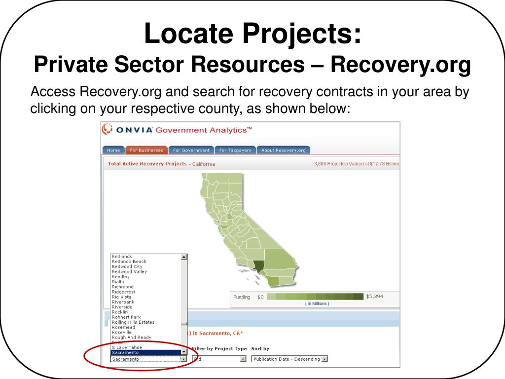 Locate Projects: