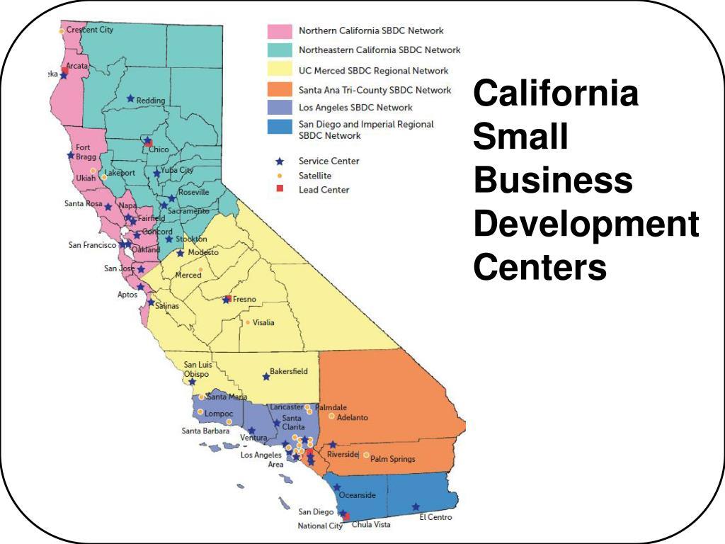 California Small Business Development Centers