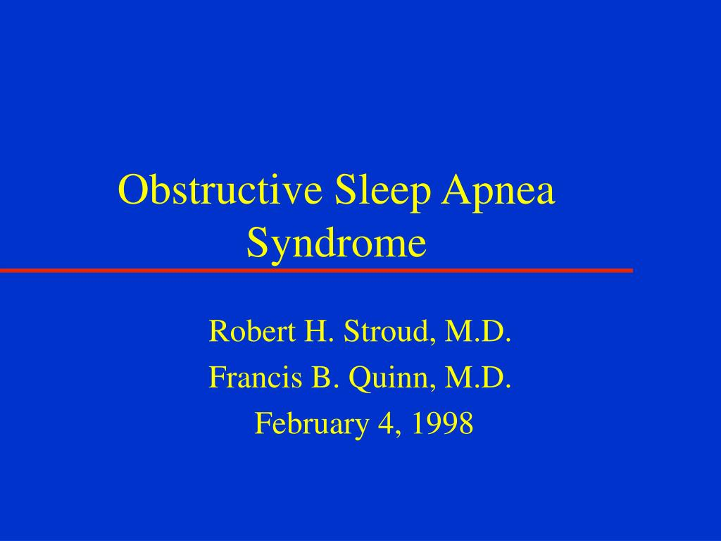 obstructive sleep apnea syndrome l.
