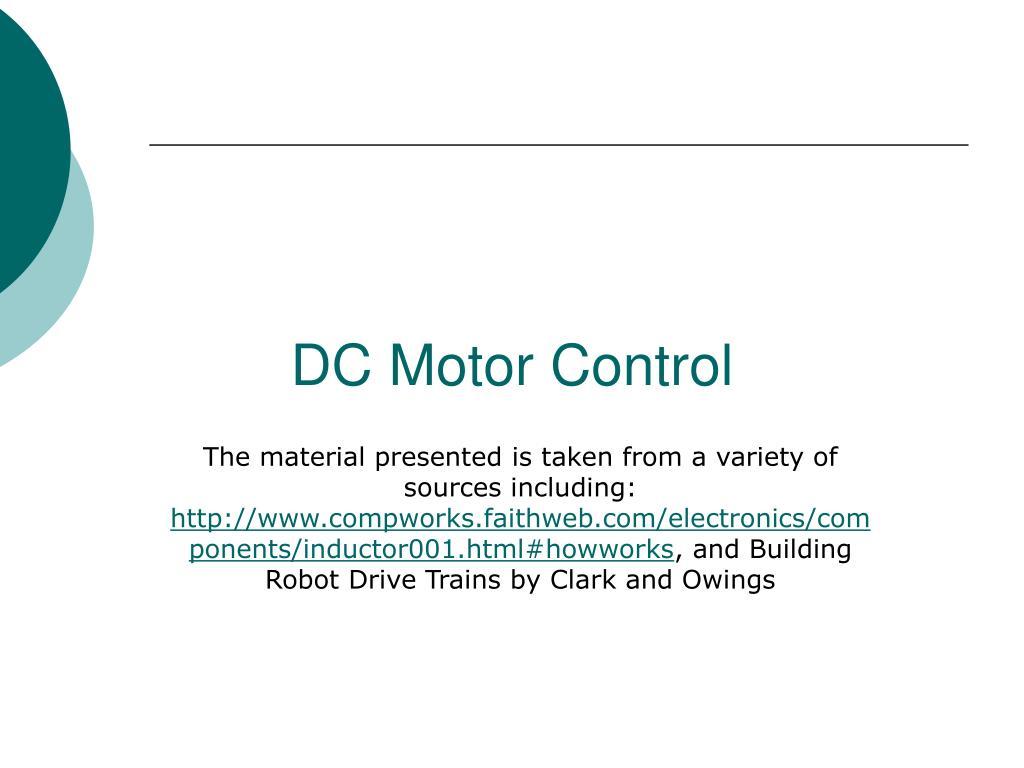 dc motor control l.