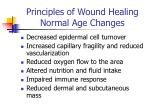 principles of wound healing normal age changes