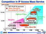 competition in ip access mass service