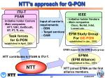 ntt s approach for g pon