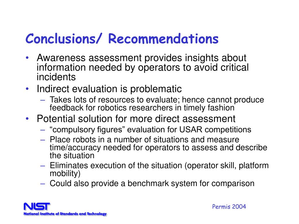 Conclusions/ Recommendations