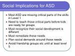 social implications for asd