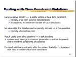 dealing with time constraint violations