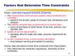 factors that determine time constraints