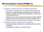 misconceptions about rtdbs 1