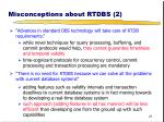misconceptions about rtdbs 2