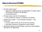 object oriented rtdbs