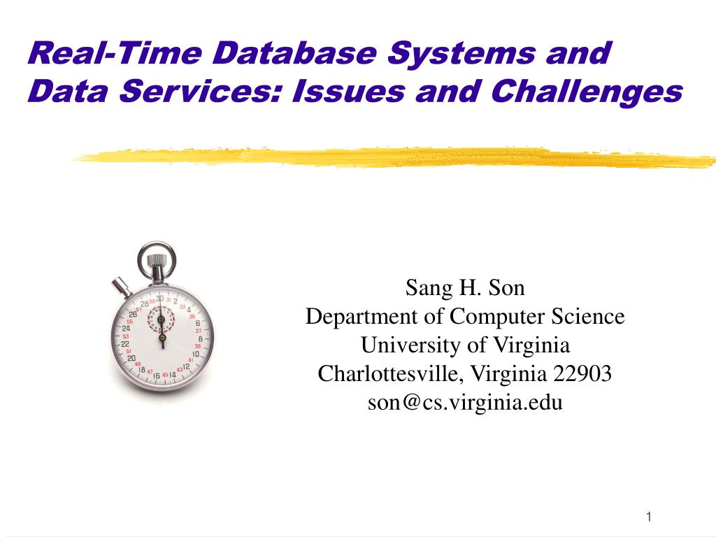 real time database systems and data services issues and challenges l.