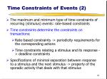 time constraints of events 2