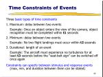 time constraints of events