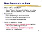 time constraints on data