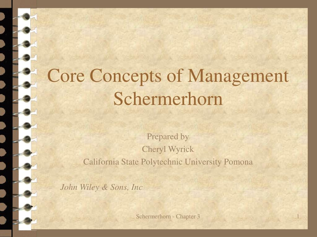 core concepts of management schermerhorn l.