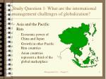 study question 1 what are the international management challenges of globalization6