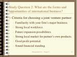 study question 2 what are the forms and opportunities of international business11