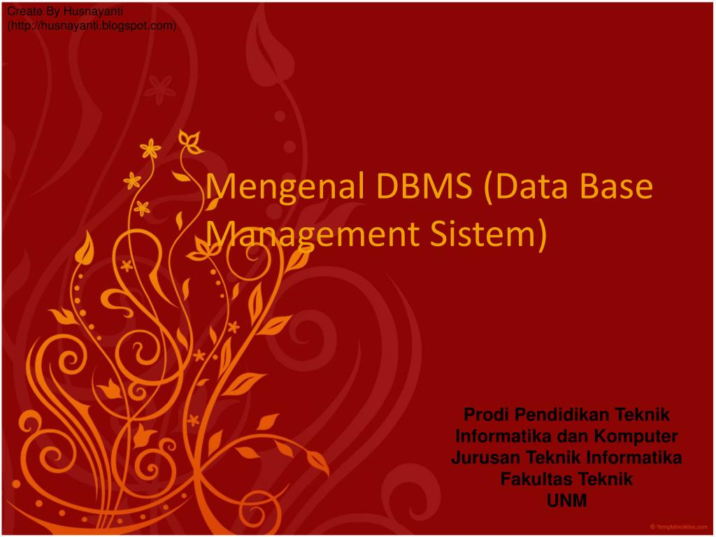 mengenal dbms data base management sistem l.