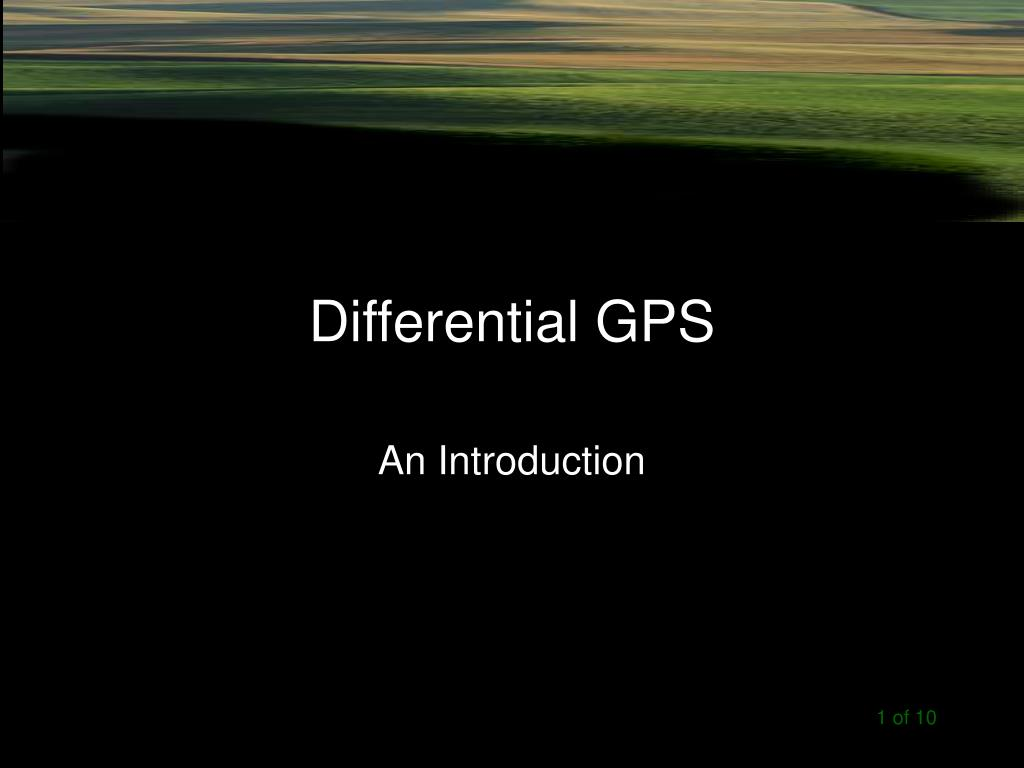 PPT - Differential GPS PowerPoint Presentation - ID:211403