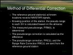 method of differential correction