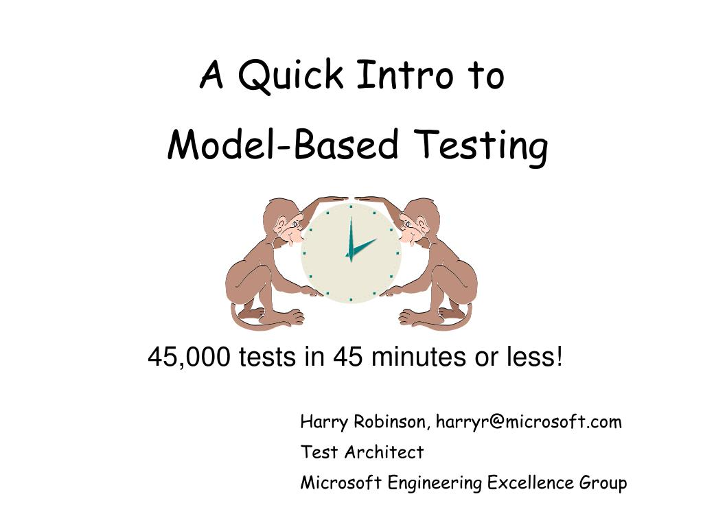 a quick intro to model based testing l.