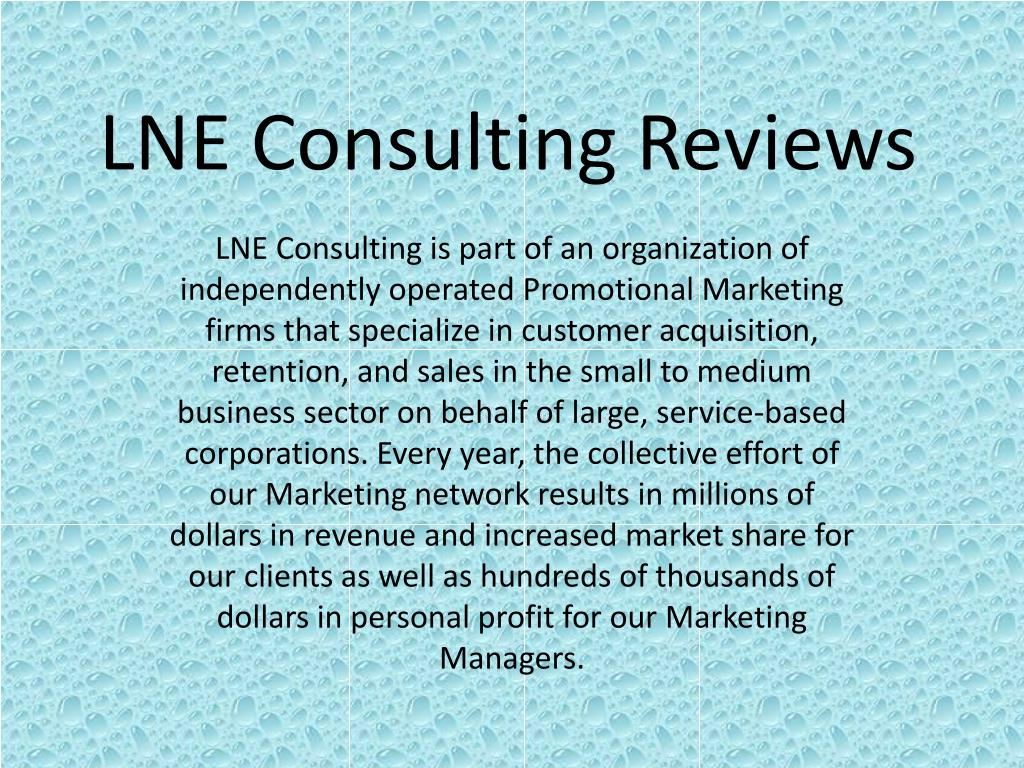 lne consulting reviews l.
