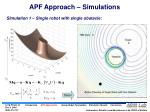 apf approach simulations