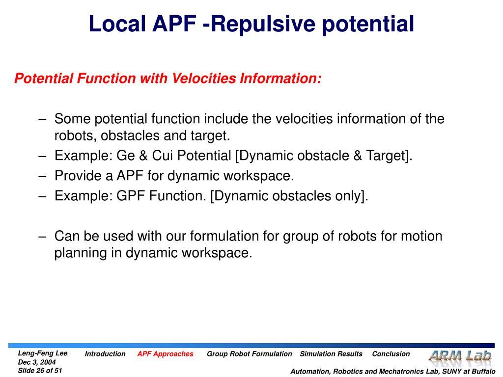 Local APF -Repulsive potential