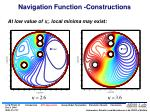 navigation function constructions