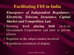 facilitating fdi in india