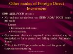 other modes of foreign direct investment20