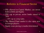 reforms in financial sector