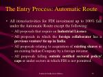 the entry process automatic route