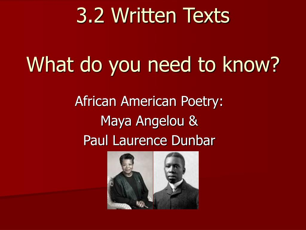 3 2 written texts what do you need to know l.