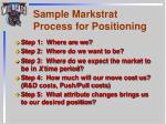 sample markstrat process for positioning
