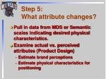 step 5 what attribute changes