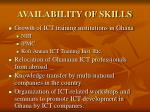 availability of skills